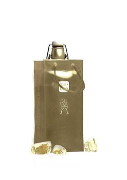 Imagen de Bolsa para 1 botella dorada BASIC
