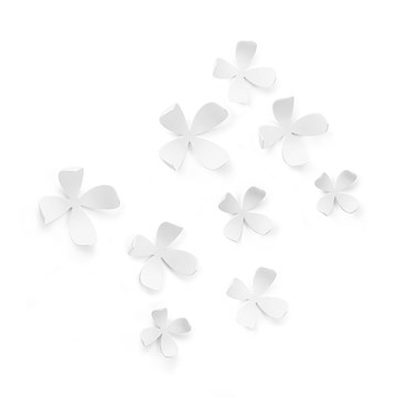 Imagen de Decoración pared x10 blanco WALLFLOWER