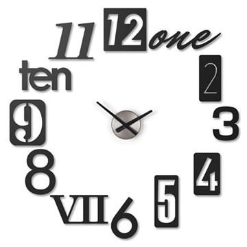 Imagen de Reloj pared personalizable negro NUMBRA