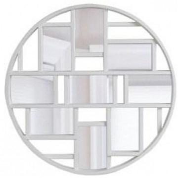 Imagen de Decoración con espejos blanco LUNA