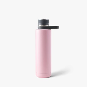 Imagen de Botella térmica acero inox. carbón/rosa 710ml